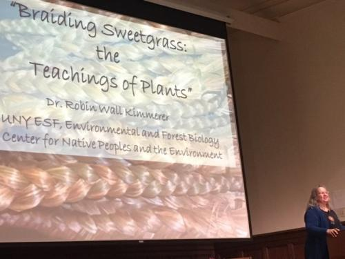 "Dr. Robin Kimmerer Delivers ""Teaching of Plants"" Lecture to Humanities Center"