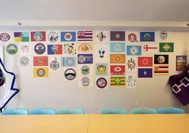 Wall of Nations, Native American Cultural Center, Yale University