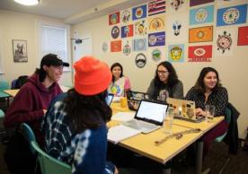 The Lakȟóta language class meets twice a week at the NACC. Photo by Robbie Short.