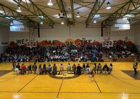 Yale student participants in Oklahoma Sovereignty Tour, Sequoyah High School, Tahlequah, Cherokee Nation